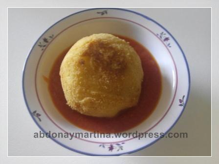 Pelotas de patata y carne