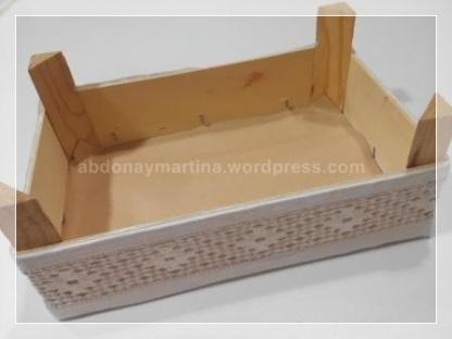 Caja de fresas forrada en tela