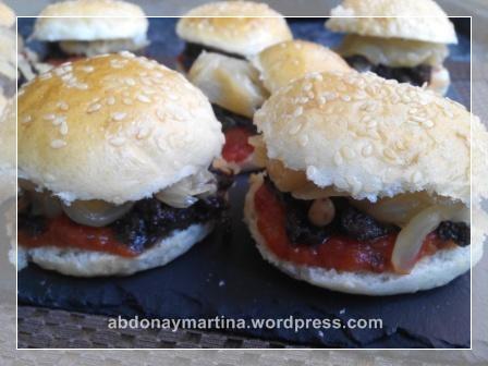 minihamburguesas de morcilla
