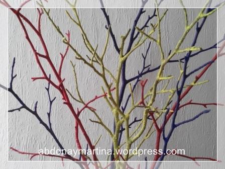 ramas de haya pintadas