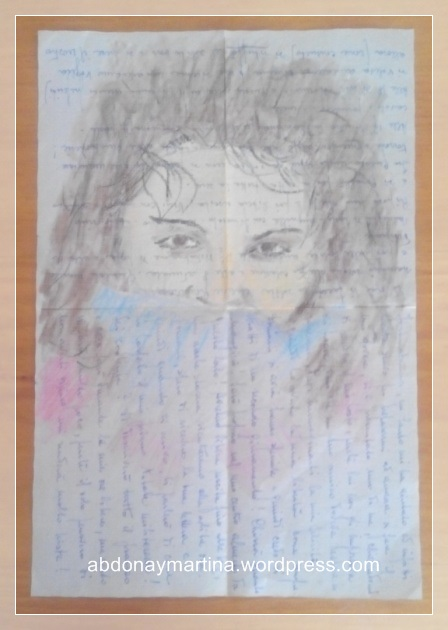retrato sobre una carta
