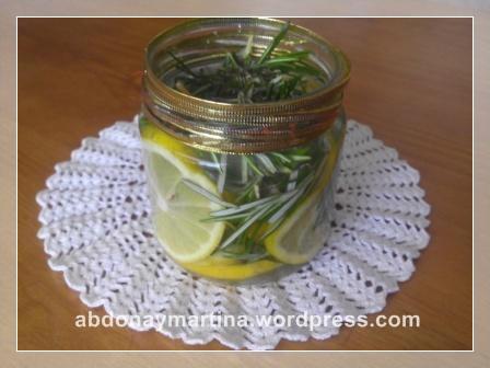 Ambientador de limón y romero